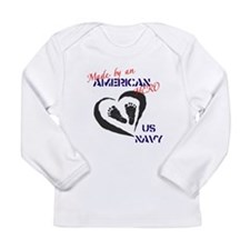 Made by American Hero - Navy Long Sleeve Infant T-
