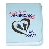 Us navy Baby Blankets