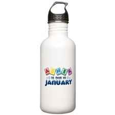 Asher is Due in January Water Bottle
