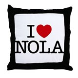 I Heart New Orleans Throw Pillow
