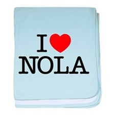 I Heart New Orleans baby blanket