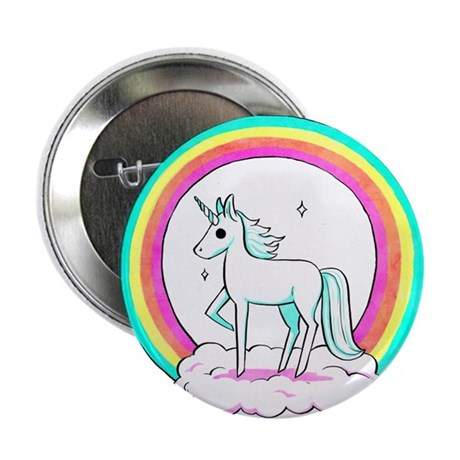 Retro Unicorn Button