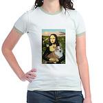 Mona - Corgi (Pembr-L) Jr. Ringer T-Shirt