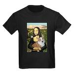 Mona - Corgi (Pembr-L) Kids Dark T-Shirt