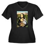 Mona - Corgi (Pembr-L) Women's Plus Size V-Neck Da