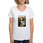 Mona - Corgi (Pembr-L) Women's V-Neck T-Shirt