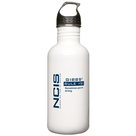 NCIS Gibbs' Rule #51 Stainless Water Bottle 1.0L