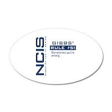NCIS Gibbs' Rule #51 22x14 Oval Wall Peel