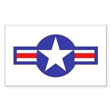 Air Force Star and Bars Rectangle Decal