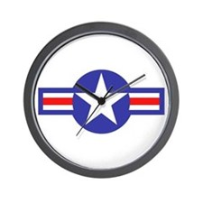 Air Force Star and Bars Wall Clock