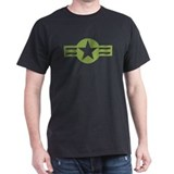 Air Force Star and Bars Black T-Shirt