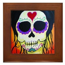 Cool Calavera Framed Tile