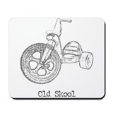 Old Skool Big Wheel Mousepad