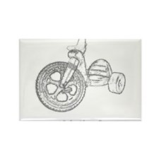 Old Skool Big Wheel Rectangle Magnet (10 pack)
