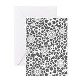 Floral Lace Pattern Greeting Card
