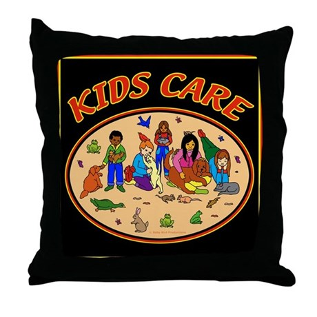 Kids Care Throw Pillow