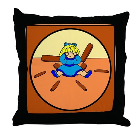 Goldilocks Throw Pillow