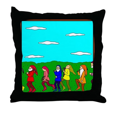 Seven Dwarfs Throw Pillow