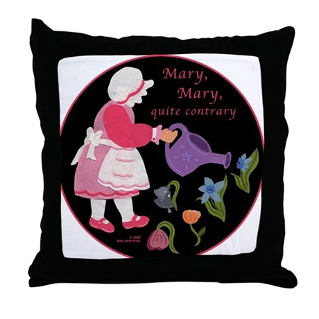 Mary, Mary, Quite Contrary Throw Pillow