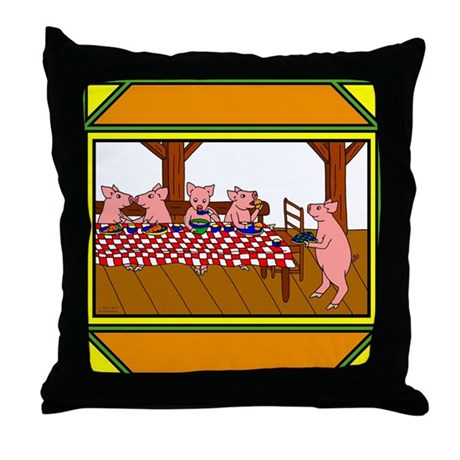 Cute Piggies Throw Pillow