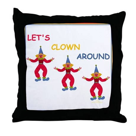 Circus Clown Throw Pillow