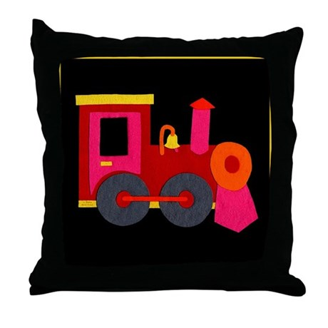 Choo-Choo Train Throw Pillow