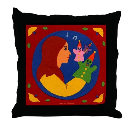 Puppets Throw Pillow