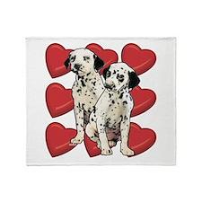 Dalmatian Puppy Love Throw Blanket