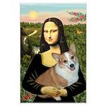 Mona - Corgi (Pembr-L) Large Poster