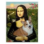 Mona - Corgi (Pembr-L) Small Poster