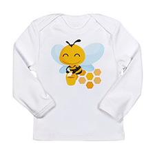 Happy Honey Bee Long Sleeve Infant T-Shirt
