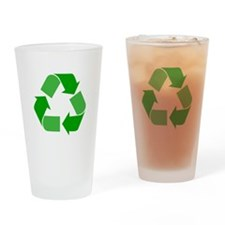 Green Recycle Symbol Drinking Glass