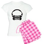 Custom QR Headphones Women's Light Pajamas