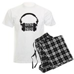 Custom QR Headphones Men's Light Pajamas