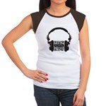 Custom QR Headphones Women's Cap Sleeve T-Shirt