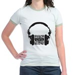 Custom QR Headphones Jr. Ringer T-Shirt