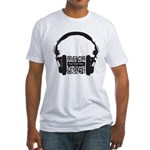 Custom QR Headphones Fitted T-Shirt