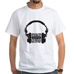 Custom QR Headphones White T-Shirt