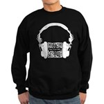 Custom QR Headphones Sweatshirt (dark)