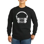 Custom QR Headphones Long Sleeve Dark T-Shirt