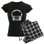 Custom QR Headphones Women's Dark Pajamas
