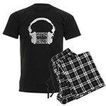 Custom QR Headphones Men's Dark Pajamas