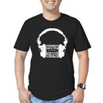 Custom QR Headphones Men's Fitted T-Shirt (dark)
