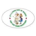 A Poor Sort of Memory Sticker (Oval 50 pk)