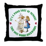 A Poor Sort of Memory Throw Pillow