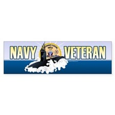 Navy Veteran SSN-23 Sticker (Bumper)