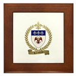 LALIBERTE Family Crest Framed Tile