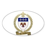 LALIBERTE Family Crest Sticker (Oval 10 pk)