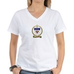 LALIBERTE Family Crest Women's V-Neck T-Shirt