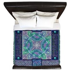 Celtic Atlantis Opal King Duvet Cover